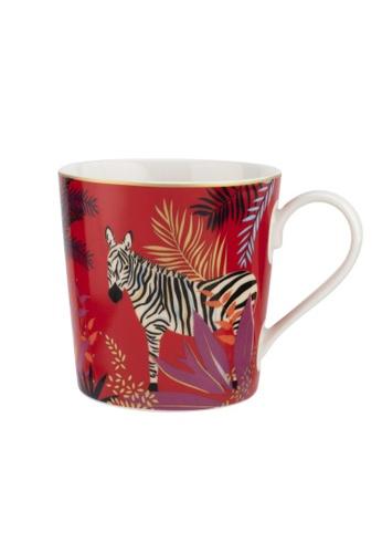 Sara Miller red Sara Miller London - Tahiti Mug - Zebra (SMTZ78914-XG) 48D29HLA9EF6B2GS_1