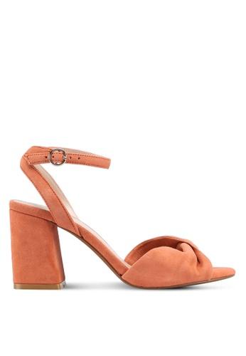 Mango orange Leather Ankle-Cuff Sandals BC7A7SH8843D48GS_1