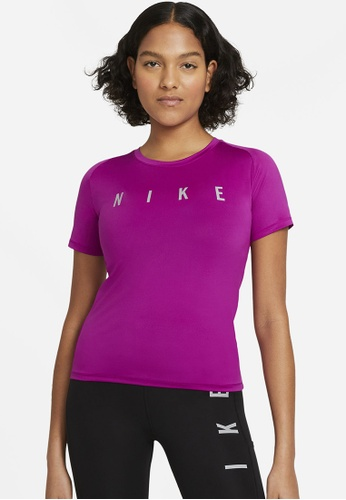 Nike purple Women's Miler Run Division Tee 0E3F3AA2E26BD9GS_1
