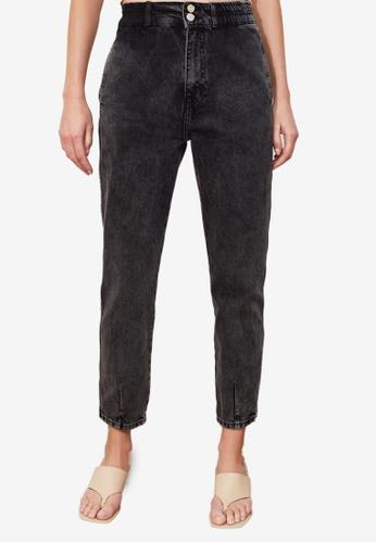 Trendyol black High Waist Mom Jeans 059A6AA49FE209GS_1