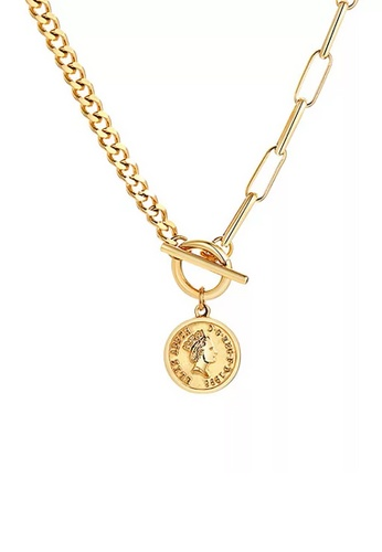 CELOVIS gold CELOVIS - Queen Elizabeth Toggle Clasp Necklace in Gold F4CF4AC619AACFGS_1