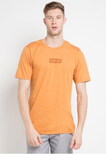 hurley orange One & Only Small Box T-Shirt B835DAA852DFE2GS_1