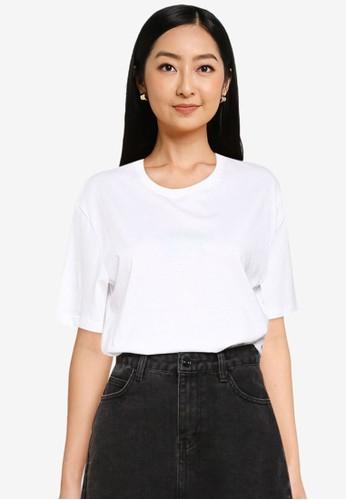 Supre white Lola Printed Longline T Shirt D18A0AABDF6A01GS_1