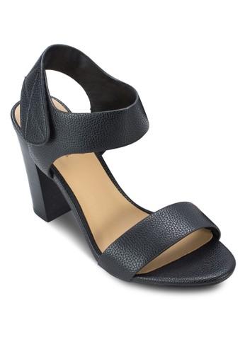 Istrago-U 一字帶繞踝粗zalora 折扣碼跟涼鞋, 女鞋, 鞋