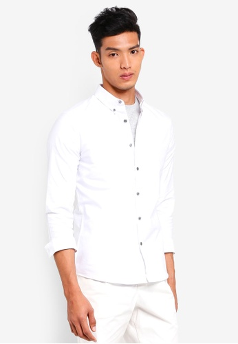 AT TWENTY white Button Down Oxford Shirt 7C690AA90EE2CAGS_1