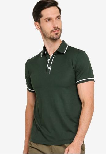 ZALORA BASICS green Contrast Lining Polo Shirt 21AC4AA528249DGS_1