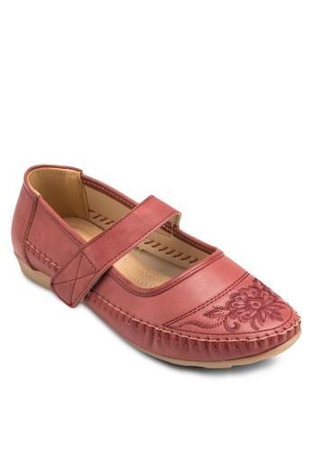 Mary Janesprit招聘es 刺繡鞋面平底鞋, 女鞋, 鞋