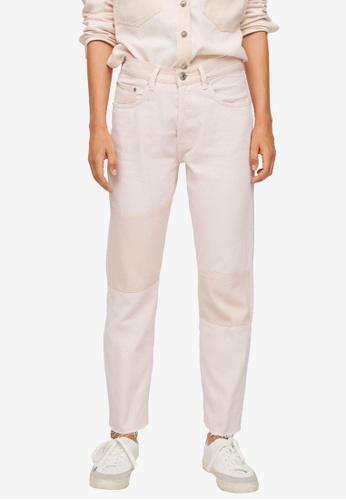 Mango 粉紅色 Contrast Panels 牛仔褲 7F05BAA0B09230GS_1