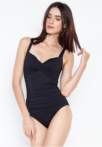 35330e9371 MARKS & SPENCER black Secret Slimming Plunge Non-Wired Longer Lenght  Swimsuit 552EBUSDD8902FGS_1