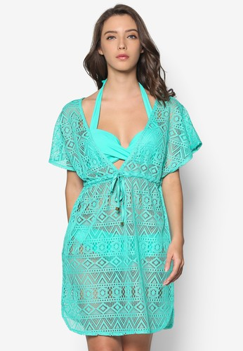Malibu 沙esprit台灣門市灘透視連身裙, 服飾, 泳褲及沙灘造型
