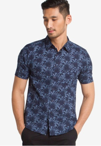 BRITANIA navy Short Sleeve Print Shirt BR202AA76VCXID_1