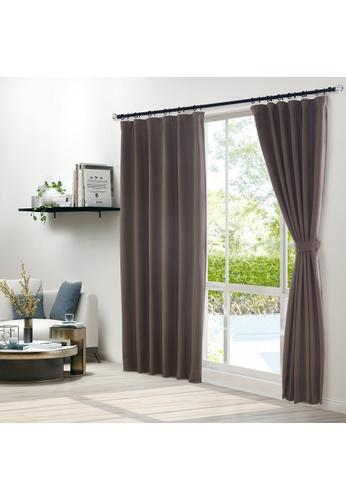 Epitex brown Epitex Clasica CLA301-2 Ready Made Curtain (Brown) 728DDHL2382BB2GS_1