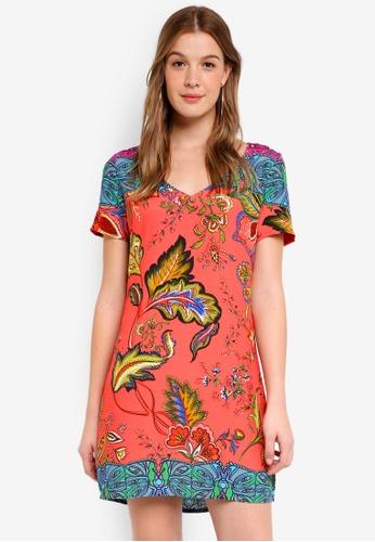 Desigual orange Wonderfull Dress 04519AAFD9E3F2GS_1