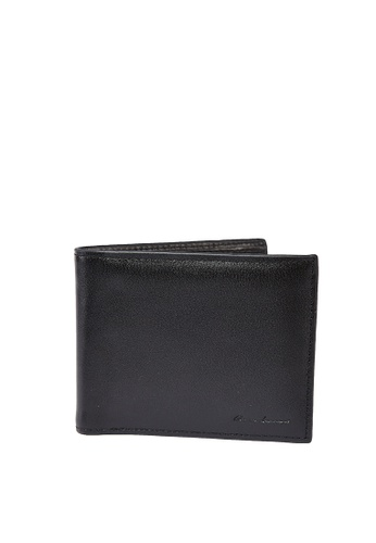MARCO LAURENT black Lunasol Sheep Skin Fold Wallet MA668AC2VN2ZHK_1