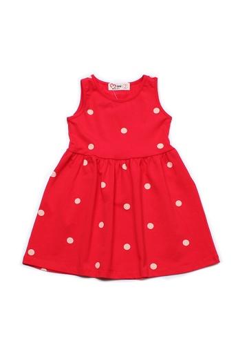 Mini Moley red Polka Dot Print Girl's Dress D7AF7KA31DCE9AGS_1