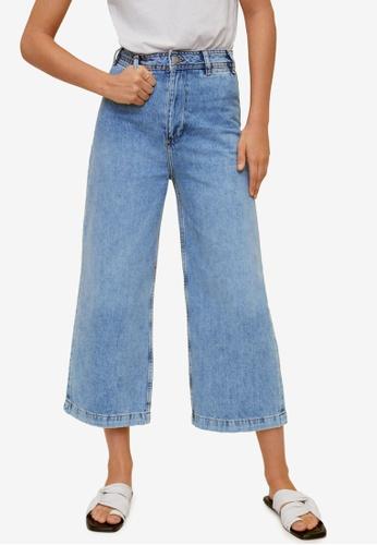 Mango 藍色 Jeans Culotte High Waist EBB54AAA7612CBGS_1