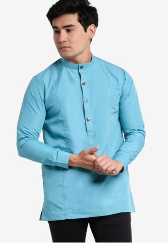 Amar Amran blue Kurta Al Hakim AM362AA57JXQMY_1