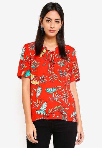 Vero Moda beige Frida Palm Top CE4D5AA2B5840AGS_1