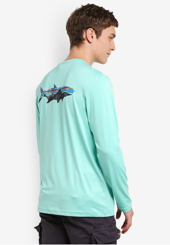 Patagonia green Graphic Tech Fish Tee PA549AA0RQBOMY_1