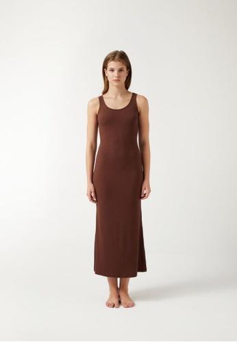 Annibody brown ROLA Dress - Mocha D9C47AA3EA5A54GS_1
