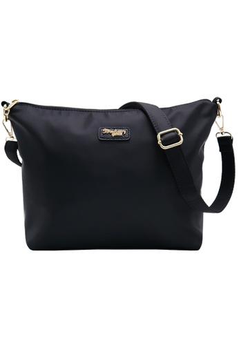 9a6451e08e STRAWBERRY QUEEN black Flamingo Sling Bag (Nylon J