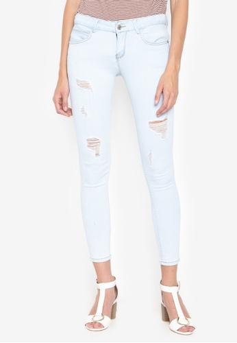 Balaynor blue Distressed Skinny Jeans B37ACAAEBF180AGS_1