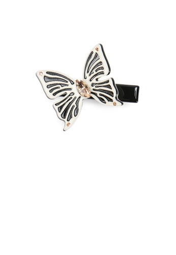 Glamorousky black and beige Fashion and Elegant Beige Butterfly Hair Clip with Cubic Zirconia 69D13ACEE5BD10GS_1