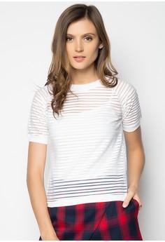 Short Sleeved Striped Raglan