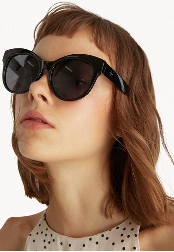 c1dffefbb9ac6 Buy Pomelo Oversized Cat Eye Sunglasses - Black