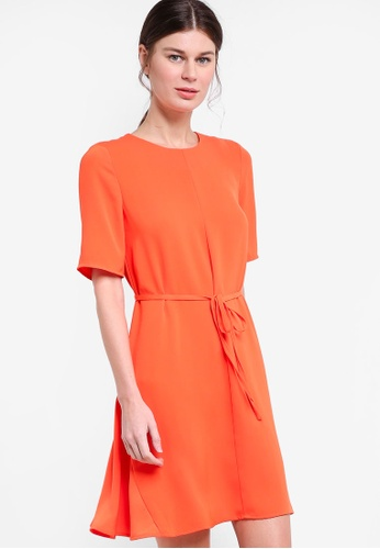 WAREHOUSE orange Flippy Dress WA653AA83LDGMY_1