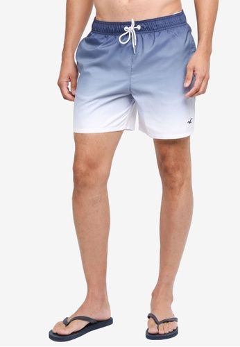 Hollister white Preppy Fit Print Swimshort 484ABUS91E1E7DGS_1