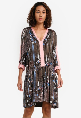 Sisley multi Floral Print Dress 8C449AAE09D62CGS_1
