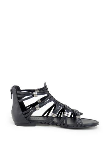 London Rag black London Rag Women's Black  Strappy Ankle Sandals LO360SH0GY8NSG_1
