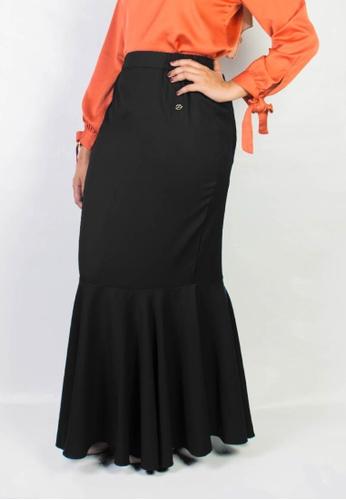 Zaryluq black Fishtale Skirt in Espresso 86CD7AA6FDCC69GS_1