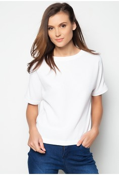 Short Sleeves Textured Boxy Shirt