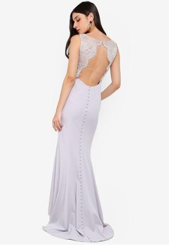 JARLO LONDON silver Cecelia Dress 8A47DAAF8CF52EGS_1