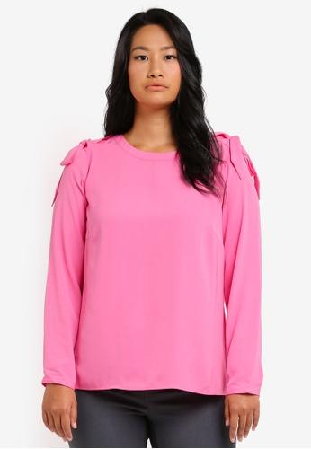 Junarose pink Plus Size Fan Cafe Top JU731AA0ST1SMY_1