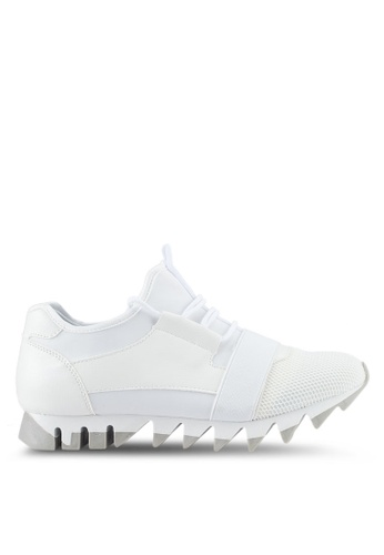 Something Borrowed white Trainers with Jagged Sole 94585SH98C1D37GS_1