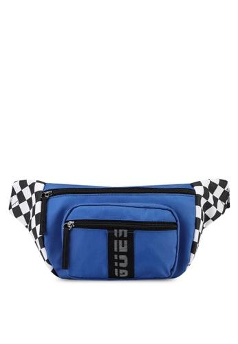 Guess blue Speed Racer Bum Bag 370BDAC28FE678GS_1