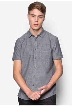 亞麻混紡短袖襯衫