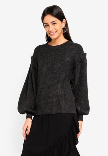 Vero Moda grey Blumi Balloon O-neck Sweater 42478AA6B9A512GS_1
