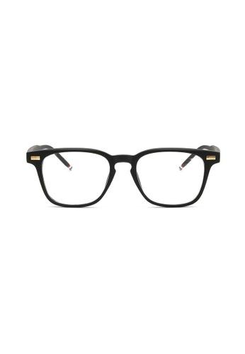 Kyfer's Eyewear & Essentials black Angular Smart Glasses (Matt) KY376AC69IRYSG_1