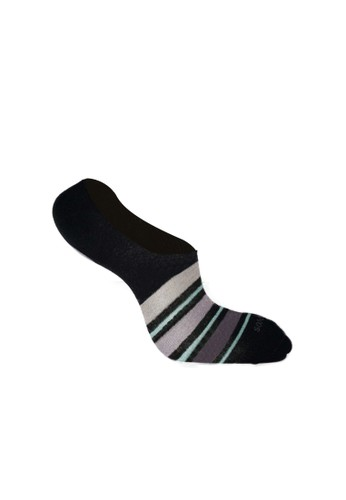SOXGALERI black Sox galeri Men Cotton Casual Hidden Socks - Stripe 50F0BAA19840E1GS_1