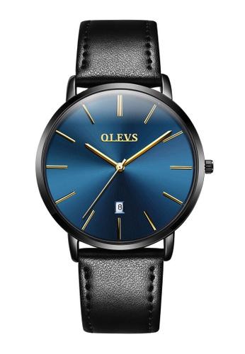 OLEVS multi Olevs Ultra Light Men Calendar Leather Quartz Watch EE734AC758CE67GS_1