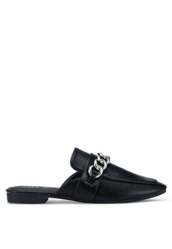Rubi 黑色 and 銀色 鏈條穆勒鞋 FCF94SH06537A3GS_1