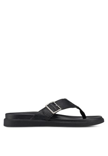 Call It Spring black Larurwen Flat Sandals 9F0FASH3B0EE7AGS_1