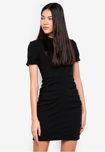 JACQUELINE DE YONG black Lauren Highneck Dress 1E584AACDEBA45GS_1