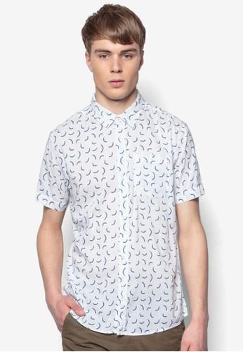 印花短袖襯衫,zalora時尚購物網評價 服飾, 印花襯衫