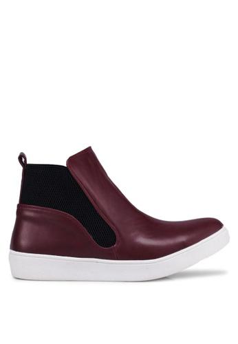 Carlton London 紅色 時尚皮靴 D6EDDSH2EDDC0EGS_1