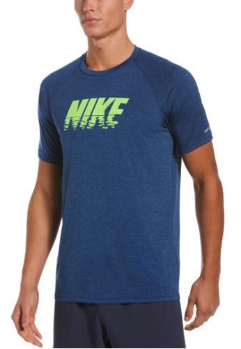 Nike blue Nike Heather Sunset Logo Short Sleeve Hydroguard 52BBFUSD3A2E7EGS_1